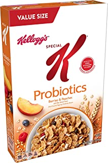 Kellogg's Special K Probiotics, Breakfast Cereal, Berries and Peaches, Low Fat, Value Size 15.5oz Box