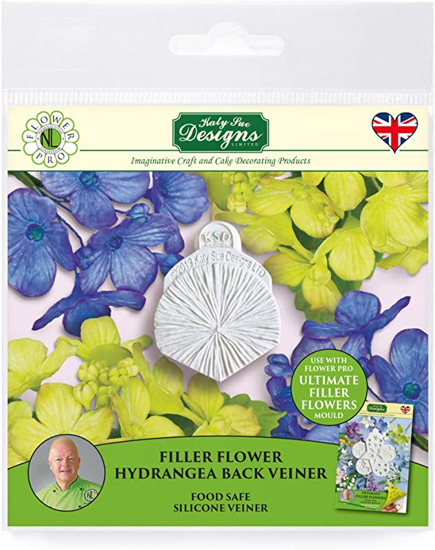 Hydrangea Petal Veiner Silicone Sugarpaste Icing Mold Flower Pro By Nicholas Lodge For Cake Decorating Crafts Cupcakes Sugarcraft Candies And Clay Food Safe Approved Made In The UK