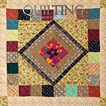 2019 Wall Calendar - Quilting Calendar, 12 x 12 Inch Monthly View, 16-Month, Hobby and Activities Theme, Includes 180 Reminder Stickers