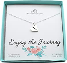 paper airplane charm necklace