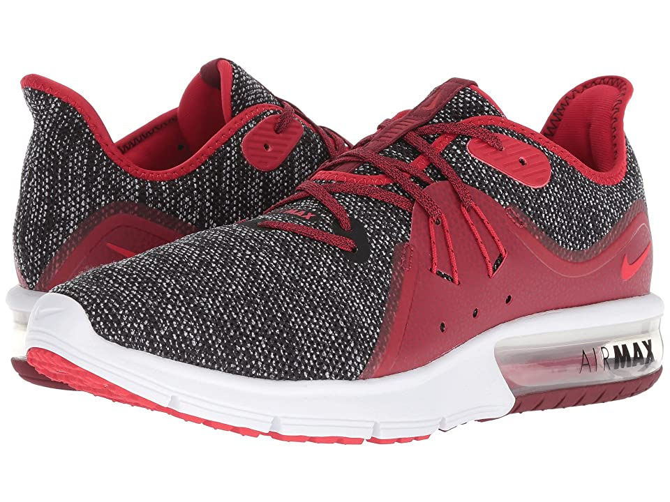 Nike Air Max Sequent 3 (Black/University Red/White/Team Red) Men