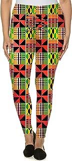 Legginna Afri Print Leggings for Womens Stretchy Printed Casual Fashion Leggings