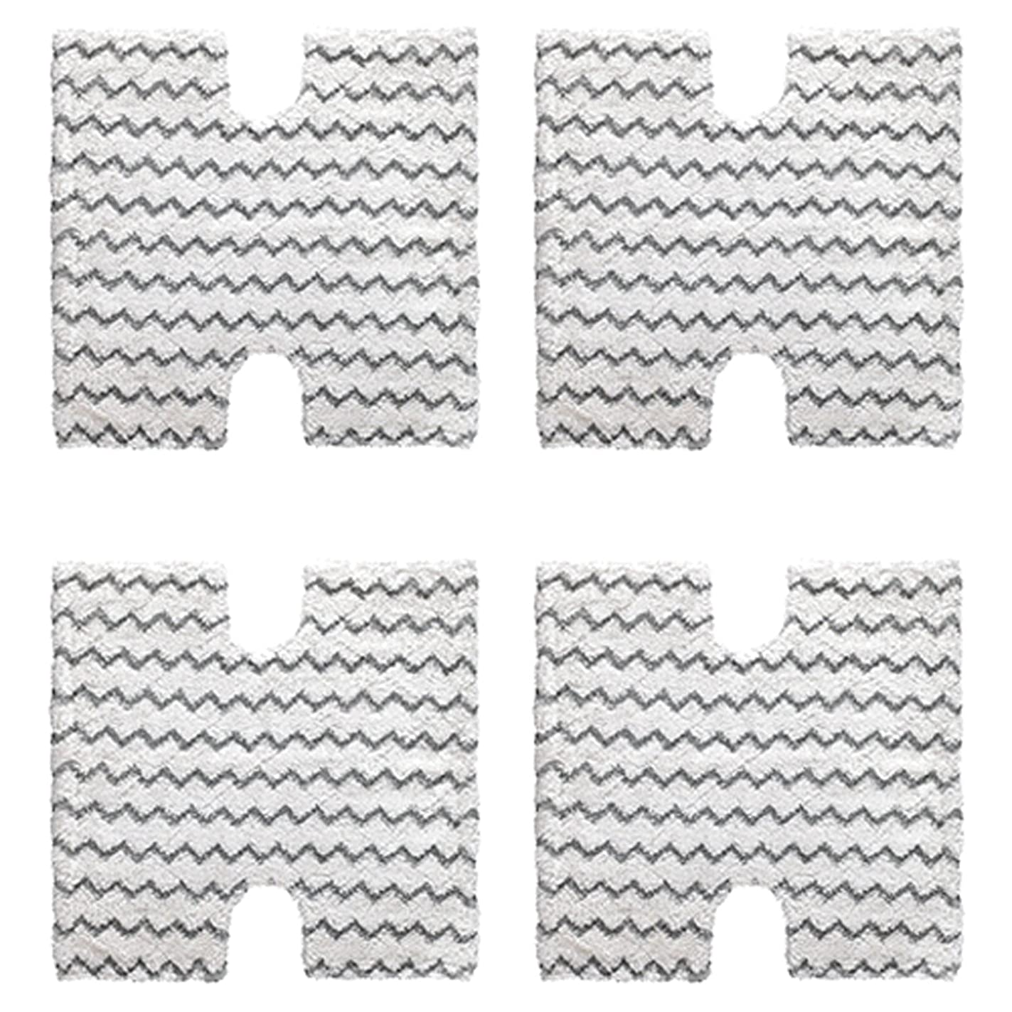 Amyehouse 4-Pack Shark Touch Free Dirt Grip Washable Microfiber Pad Replacememt for Shark Lift-Away & Genius Steam Mop S3973 S3973D S5002 S5003 S6001 S6002 S6003 Part # XTP184 & P184WQ