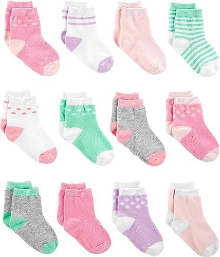 Simple Joys by Carter's 12-Pack Socks Bébé Fille, Lot de 12