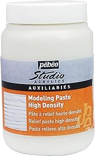 PEBEO Studio Acrylics Auxiliaries - Pasta para Relieve de Alta Densidad (250 ml), Color Blanco