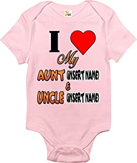 Baby Bodysuit - Custom Personalized I Love My Aunt and Uncle with Your Names