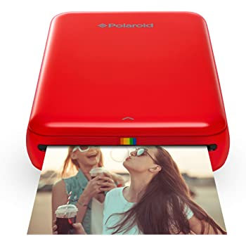 Zink Polaroid ZIP Wireless Mobile Photo Mini Printer (Red) Compatible w/ iOS & Android, NFC & Bluetooth Devices