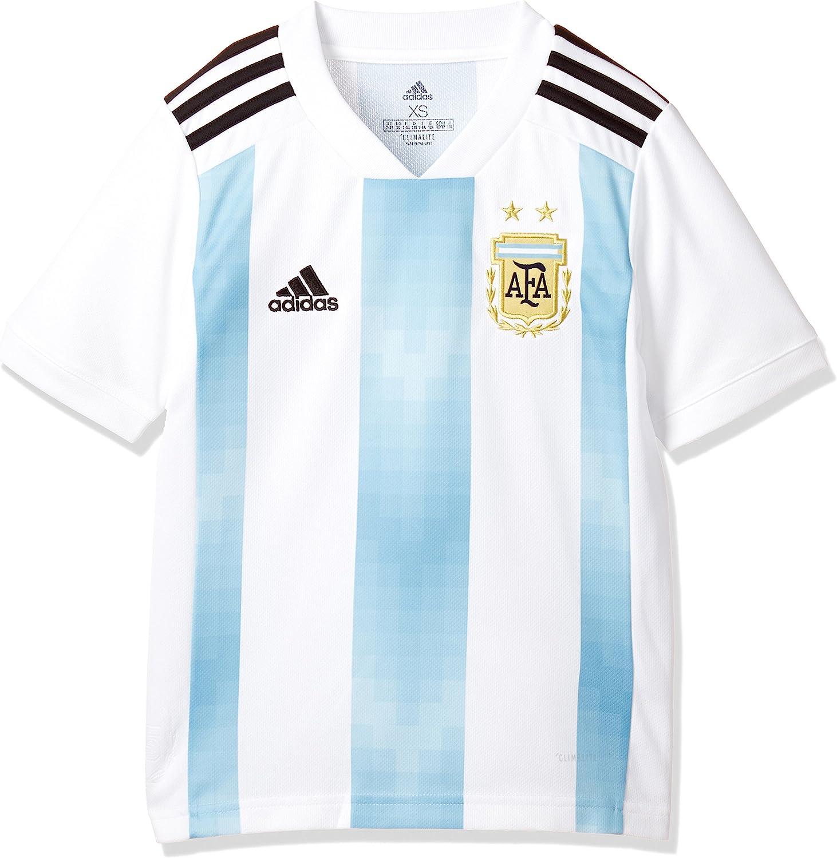 Amazon.com : adidas 2018-2019 Argentina Home Football Soccer T ...