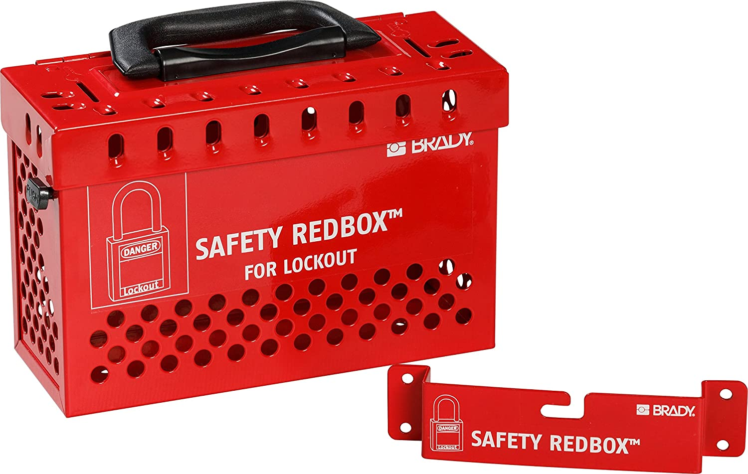 Brady 145579 Popular products Group Lockout Box Max 47% OFF Powder-Coated 6.7