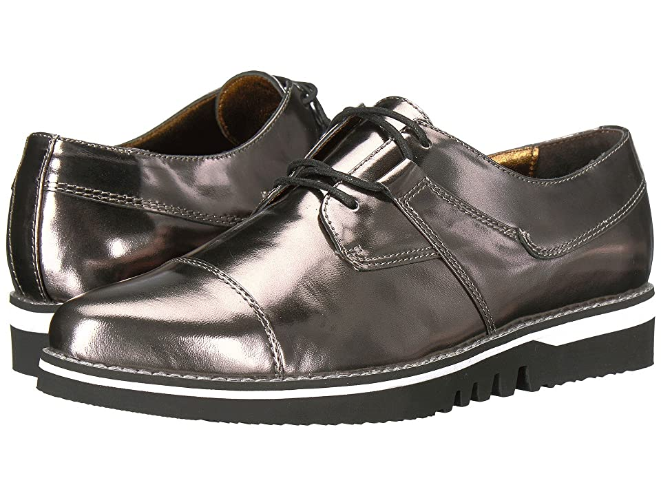 Johnston & Murphy Becca (Pewter Mirrored Leather) Women