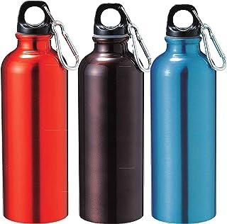 ベーシックスタンダード(Basic Standard) アルミボトル 500ml 直飲み 水筒 カラビナ 付き (※ ブルー/オレンジ/ブラウン の中からどれか1個) 500ml (水素水 ・ ミネラルウォーター ジム に最適) 30184