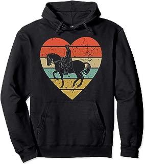 Dressage Vintage Design Retro Horseback Riding Heart Sport Pullover Hoodie