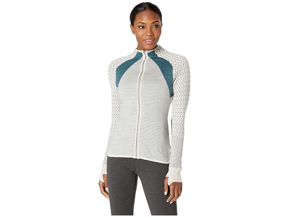 Smartwool Dacono Ski Full Zip Sweater (Moonbeam Heather) Women