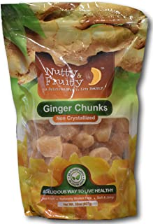 Ginger Chunks- Non crystallized Real Fruit- Soft and Juicy