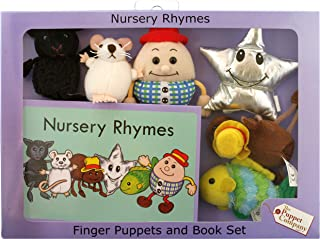 The Puppet Company Traditional Story Sets Nursery Rhymes Book and Finger Puppets Set