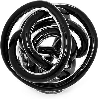Torre & Tagus 901745B Orbit Glass Decor Ball, Large, Black
