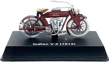 Indian 1912 V-2 Motorcycle - 2018 NewRay Toys 1:32 Scale Vehicle & Custom Display Base