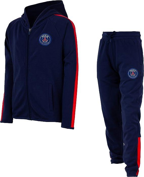 Paris Saint Germain - Felpa con cappuccio della squadra di calcio francese Paris Saint Germain, collezione ufficiale, da bambino
