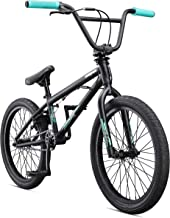 Mongoose Legion Street Freestyle BMX Bike Line for Beginner to Advanced Riders, Hi-Ten Steel or 4130 Chromoly Frame, Micro Drive 25x9T BMX Gearing, U-Brakes with Removable Mounts, and 20-Inch Wheels (Renewed)