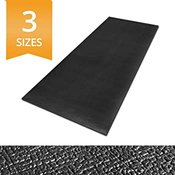 """Ergocell Kitchen Anti Fatigue Mat - Memory Foam Kitchen Mat   Ergonomically Engineered Standing Desk Mat for Promoting Comfort at Home & Office   Two Colors Available   Black – 24"""" x 72"""""""