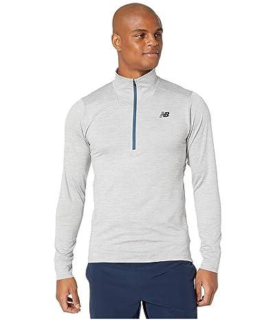New Balance Fortitech 1/4 Zip Tee (Athletic Grey) Men