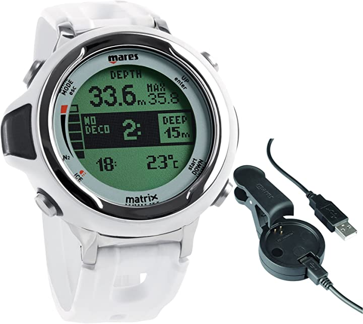 Computer da immersione unisex – adulto, bianco, taglia unica mares matrix - orologio immersione 414167