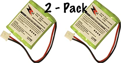 ZZcell 2-Pack (TM) Battery for DOGTRA Dog Collar DC-20, 175NCP, 180NCP, 200NCP, 202NCP Gold - 2, 210NCP, 22000NCP, Receiver 175NCP, 200NCP, 202NCP, 280NCP, 282NCP, 300M, 302M