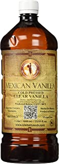 Clear Mexican Vanilla Cold Pressed 1 Liter / 33.8 Oz