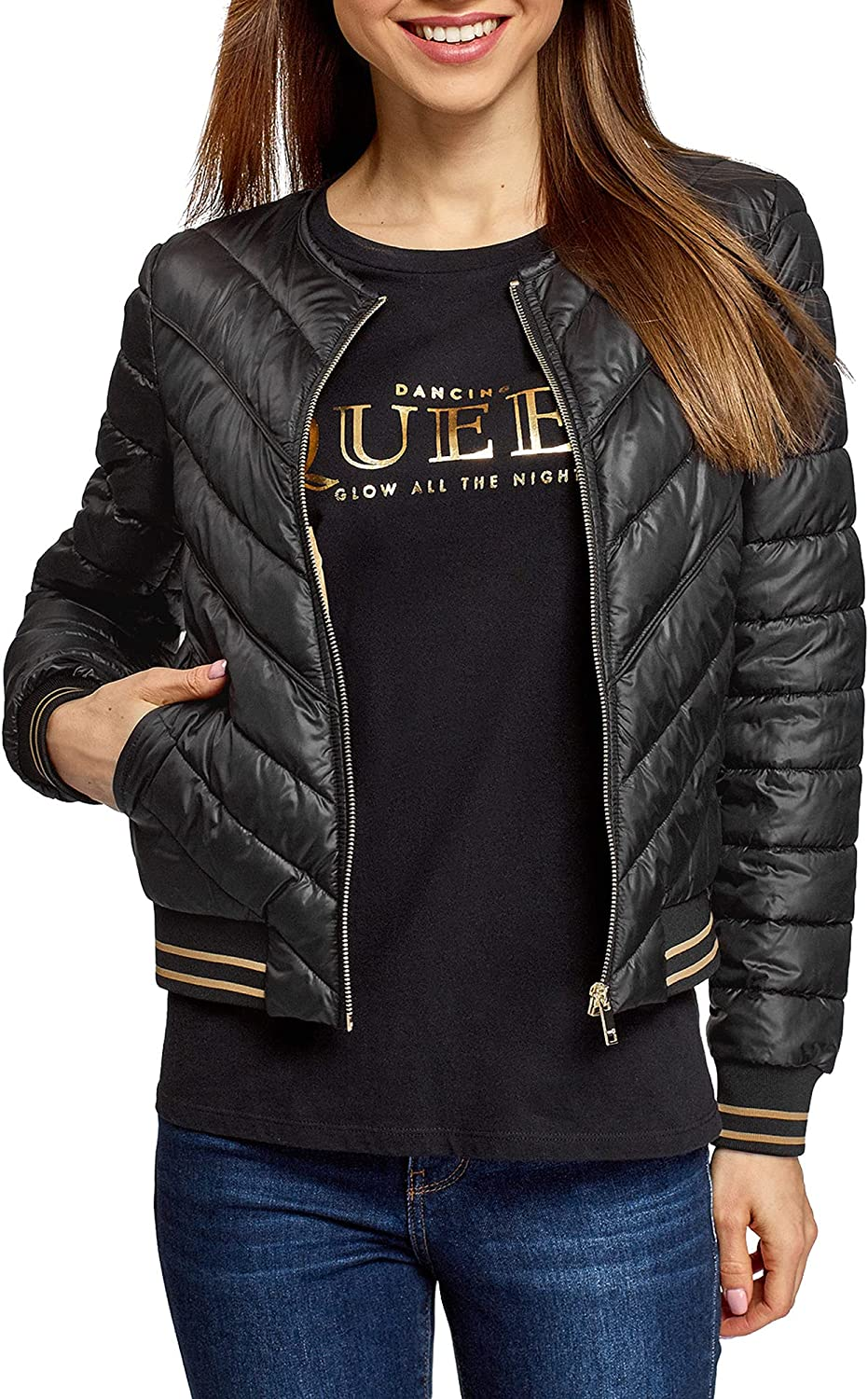oodji womens Quilted
