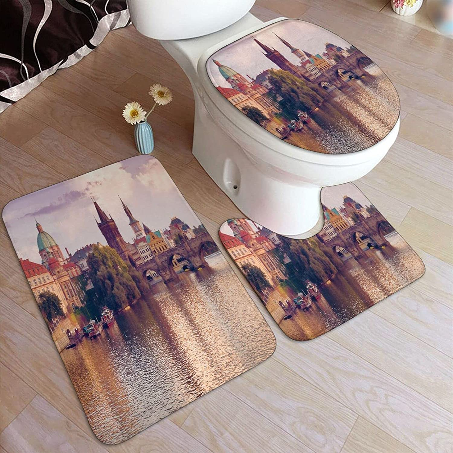 ZOANEN Home Goods 3 Piece Bathroom Inexpensive 70% OFF Outlet Includes Bath Set Co Rug