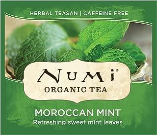 Numi Organic Tea Moroccan Mint, 100 Count Box of Tea Bags, Herbal Teasan (Packaging May Vary)