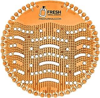 Urinal Screen Deodorizer (10 Pack) - Scent Lasts for Up to 5000 Flushes – Anti-Splash & Odor Neutralizer – Ideal for Bathrooms, Restrooms, Office, Restaurants, Schools – Orange Citrus Fragrance