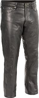 Milwaukee Leather Men's Premium Leather Pants (Black, Size 32) (S)
