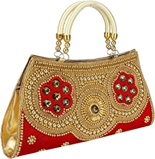 enagement ceremony /& wedding etc. Indian fantastic Women Clutch with beaded work for all party Function