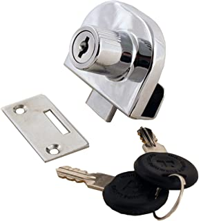 FJM Security 0248-KD Double Glass Door Lock with Chrome Finish, Keyed Different