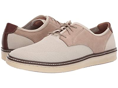 Johnston & Murphy McGuffey Plain Toe (Beige Knit/Nubuck) Men