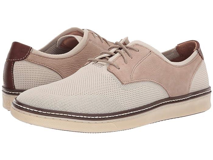 Johnston and Murphy  McGuffey Plain Toe Knit Sneaker (Beige Knit/Nubuck) Mens Lace up casual Shoes