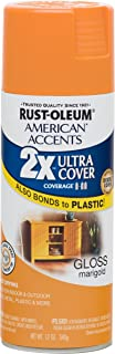 Rust-Oleum 284987 American Accents Ultra Cover 2X Gloss, Each, Marigold