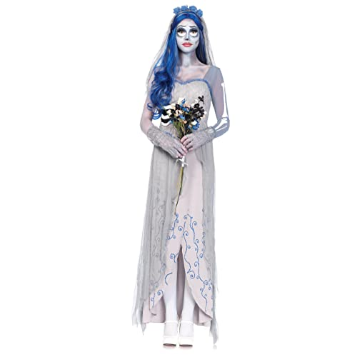 Girls Halloween Corpse Bride Zombie Vampire Ghost Fancy Dress Costume Outfit