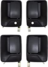PT Auto Warehouse FO-3523A-QP - Outside Exterior Outer Door Handle, Textured Black - 1 Front Left, 1 Front Right, 1 Rear Left, 1 Rear Right
