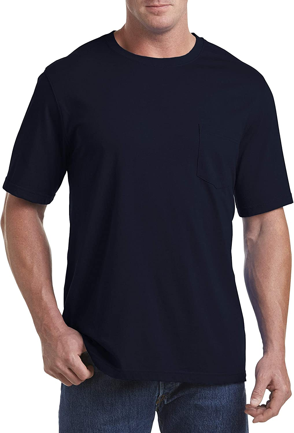 Harbor Bay by DXL Big and Tall Moisture-Wicking Pocket T-Shirt