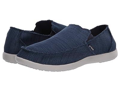 Crocs Santa Cruz Downtime Slip-On (Navy/Pearl White) Men