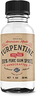 1 Ounce 100% Pure Gum Spirits of Turpentine