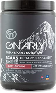 Gnarly Nutrition, BCAA Pre and Mid Workout Supplement to Reduce Muscle Soreness, Caffeinated