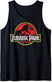Distressed Classic Red And Yellow T-Rex Logo Tank Top