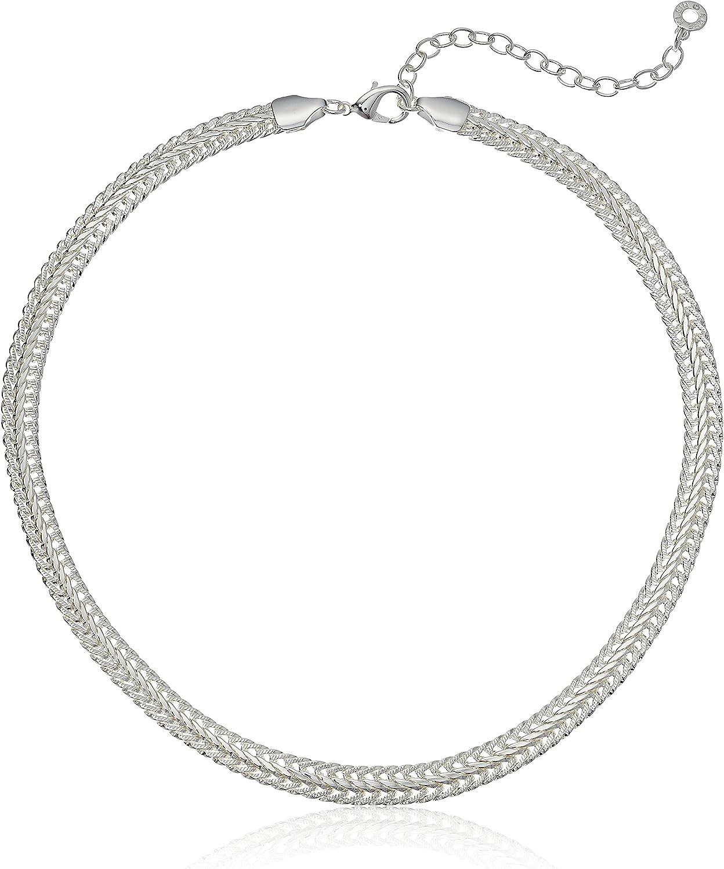 Anne Klein Classics Gold-Tone Flat Chain Necklace