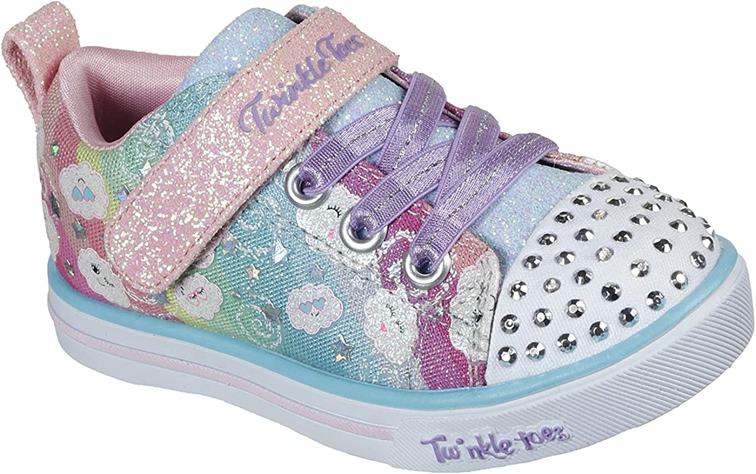 Ranking TOP3 Skechers Unisex-Child Sparkle Lite-Rainbow Shines Sneaker Online limited product