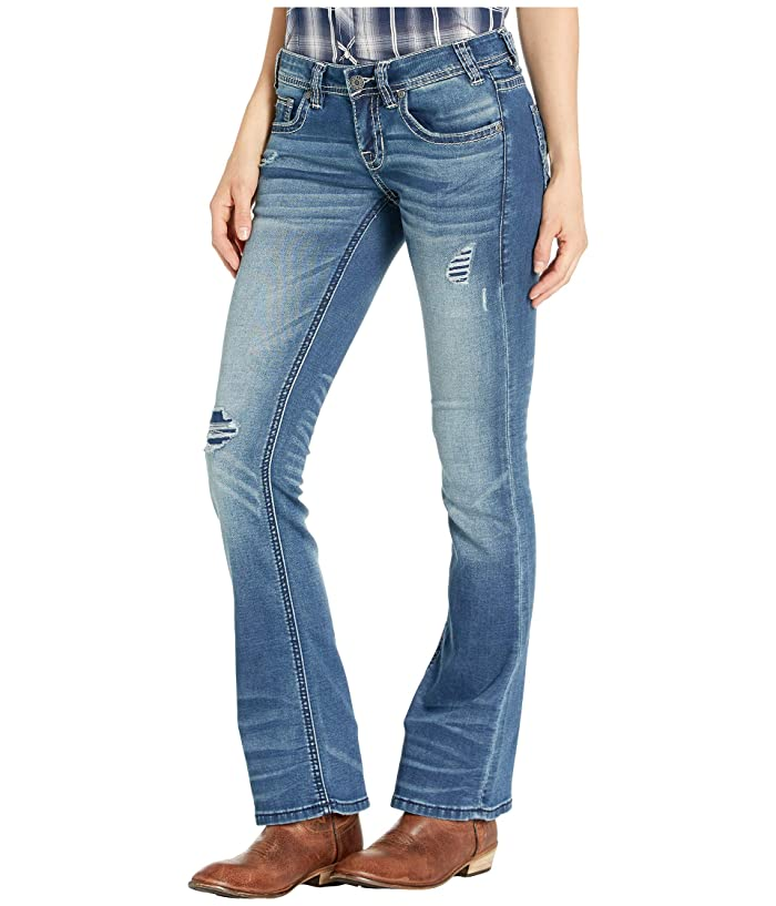 Rock and Roll Cowgirl W6-1002 Rival Bootcut Jeans in Medium Vintage Wash