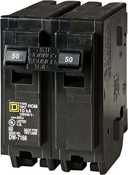 Your One Source HOM250CP 50-Amp 2-Pole Plug-On Circuit Breaker