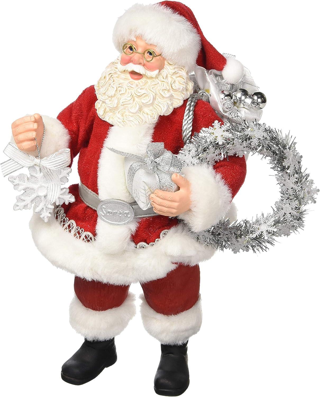 Department 56 Possible Dreams Santas Silver Season, 10.5  Figurine, Multicolor